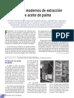 Procesos Modernos de Extracción de Aceite de Palma