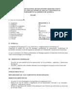 Proyecto de Acreditación de La Carrera Profesional de Química