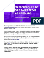11 Proven Techniques to Get More Sales From Classified Ads!