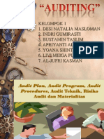 AUDIT KELOMPOK 1_ AUDIT PLAN, AUDIT PROGRAM, AUDIT PROSEDURES, AUDIT TEKNIK, RISIKO AUDIT DAN MATERIALITAS.ppt