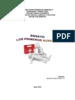 Ensayo Los Primeros Auxilios - Genesis Freitez V20924114