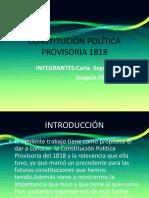 Constitución Política Provisoria 1818