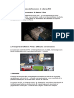 Proceso de Fabricación de Tuberías Pvc
