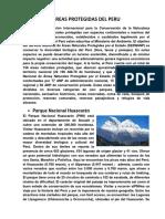 Areas Protegidas Del Peru