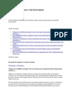Economic Development vs the Environment.docx
