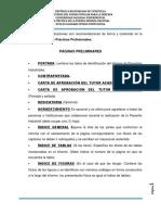Instructivo Del Informe de Práctica Profesional