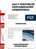 Causas y Efectos de La Contaminación Atmosferica