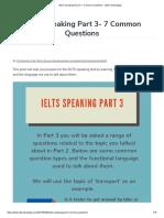 IELTS Speaking Part 3- 7 Common Questions – IELTS Advantage