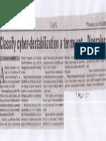Manila Bulletin, Apr. 24, 2019, Classify cyber-destabilization a terror act - Nograles.pdf