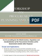 Procurement Planning & Activity