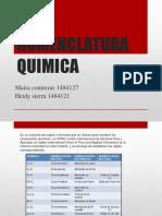 NOMENCLATURAS QUIMICAS