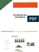 CONTROL DEL CONCRETO FRESCO