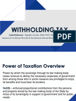 Withholding Tax PPT Presentation