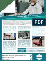 Productos Carbonato Litio