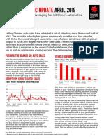 China Economic Update 15 April 2019
