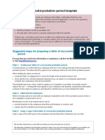 Successful Probation Letter Template