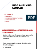 Discourse Analysis and Grammar.
