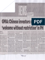Philippine Daily Inquirer, Apr. 24, 2019, GMA Chinese investors should feel welcome without restriction in PH.pdf