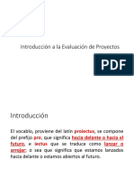 Introducción Evaluación Proyectos
