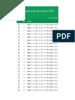 Programa de aprovação IFPB