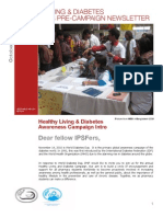 IPSF Diabetes Pre-Campaign Newsletter 2010