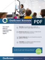OneScreen Annotate Cut Sheet