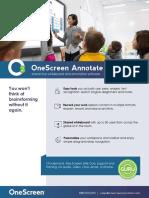 OneScreen Annotate Cut Sheet