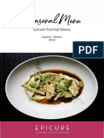 EPICURE Autumn Winter 2019 - School Formal Menu