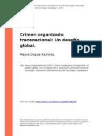Informe Técnico (Crimen Organizado Transnacional Un Desafio Global)