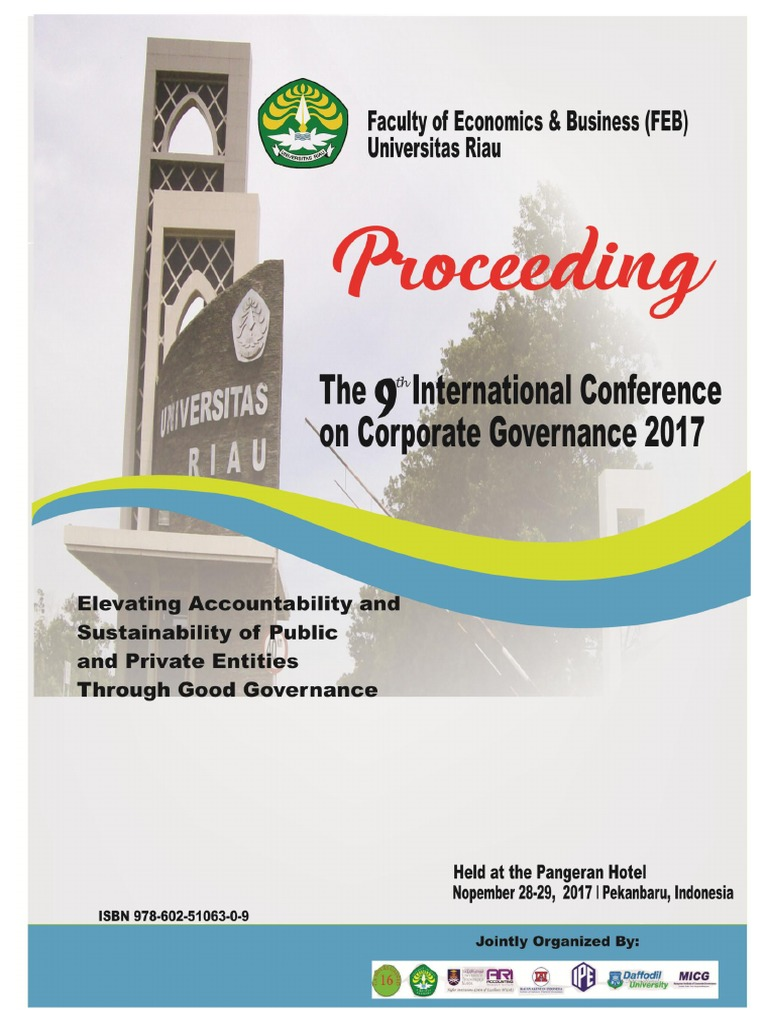 Final Proceeding Iccg 2017 25 Januari 1 Pdf Corporate Social Responsibility Governance