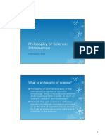 Introduction Philosophies of Science
