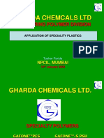 APPPLICATION of Speciality Polymers From Gharda Polymers