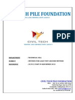 Anchor Pile Load Test Methodology