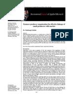 Effevtive Linkages for FPO