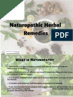 Naturopathic Herbal Remedies