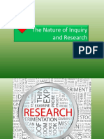 The Nature of Inquiry and Research