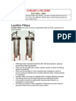 Lecithin Filters