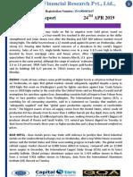 MCX DAILY REPORT 24 APR 2019