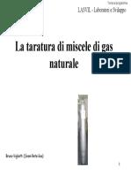 Taratura Miscele Gas