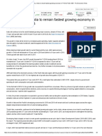India as fastest growing economy.
