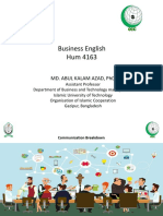 Hum 4163 Business English Breakdown in Communication