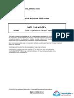 5070 June 2015 Paper 41 Mark Scheme