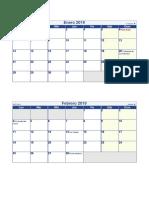 Calendario 2019 Pequeno