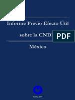 Informe Previo Efecto Útil, CNDH-México 4a ed