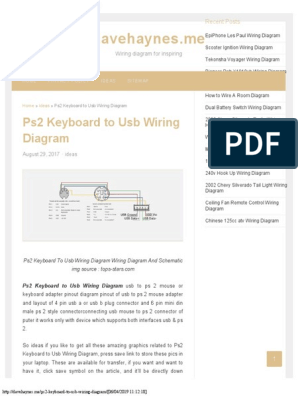 Ps2 Keyboard to Usb Wiring Diagram - Davehaynesme | Usb | Computer on