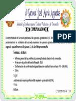 Plantillla Comunicado 2019