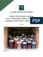 Bhutan IFLA Global Vision 2nd Phase Workshop