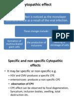 Cytopathic effect