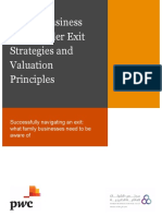 Family Business Shareholder Exit Strategies and Valuation Principles