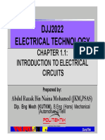 Chapter 1 Intro to Electrical Circuit